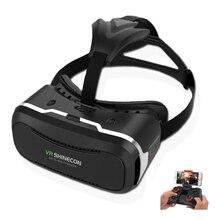 HOT! ShineconVR IIปรับรูปแบบHD VRกล่องIIที่สมจริง3Dแว่นตาเสมือนจริง+สมาร์ทบลูทูธการควบคุมระยะไกลGamepad