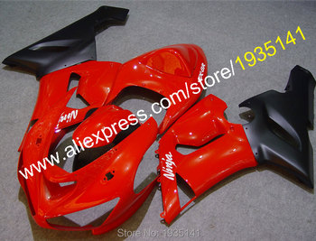 Red black parts For Kawasaki Fairing Kit ZX 6R Ninja ZX-6R 05 06 ZX6R cowling 636 ZX636 2005 2006 (Injection molding)