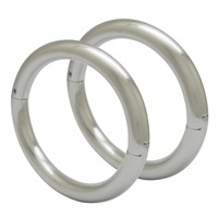 High quality solid 304 stainless steel fashion bracelets lockable bangles