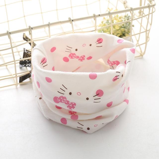 Корейский хлопковый детский шарф, снуд с рисунком, клетчатые шарфы с кольцами для девочек, зимний теплый снуд для мальчиков, детский снуд - Цвет: 27
