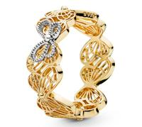 Original 925 Sterling Silver Ring Openwork Golden Shine Butterflies Pandora Rings For Women Wedding Party Gift Fine Diy Jewelry