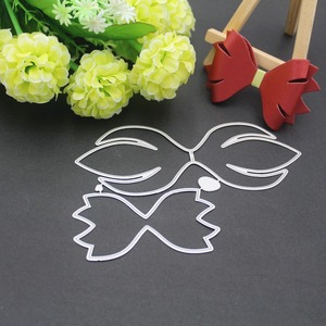 Image 5 - 9 styles 3D Bow Frame Metal Cutting Dies Stencils for DIY Scrapbooking Christmas Greeting Cards Decorative Embossing Template