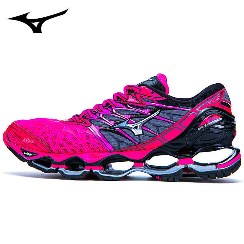 Tenis Mizuno Mizuno Wave Prophecy 7 Professional Sports Men Shoes Red Colors Classic Stable Sports Weightlifting Shoes Size -45