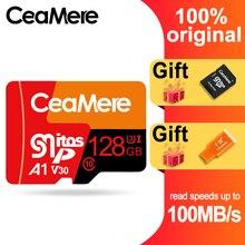 CeaMere Micro carte SD Class10 UHS 1 8GB Class6 16GB/32GB U1 64GB/128GB/256GB U3 carte mémoire Flash Microsd pour Smartphone