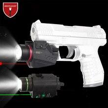 Тактический светодиодный светильник-вспышка зеленый/красный лазерный прицел для 20 мм рельсовый мини-пистолет Glock светильник lanterna страйкбол светильник