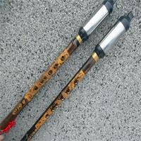 Natural Purple Bamboo Vertical Playing Bawu Flute F G Key Flauta Bawu Detachable Bau Chinese Dragon