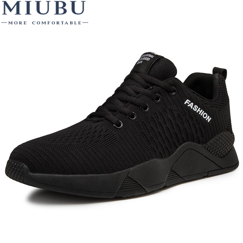 MIUBU Brand Sneakers Men Fly Weave Casual Shoes Men Fashion Trend Spring Summer Breathable Mans Footwear Lace Up Tenis Flats in Men 39 s Casual Shoes from Shoes