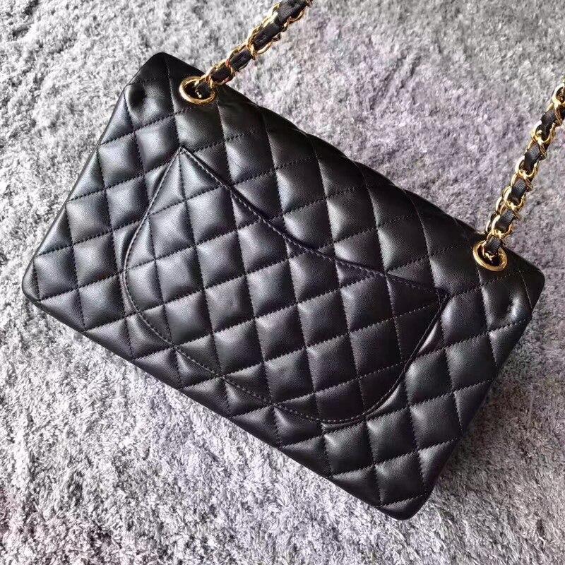 Free shipping DHL best quality Lambskin Rhombus lattices chain bag Women Shoulder Bag CF 25CM Sheepskin bag