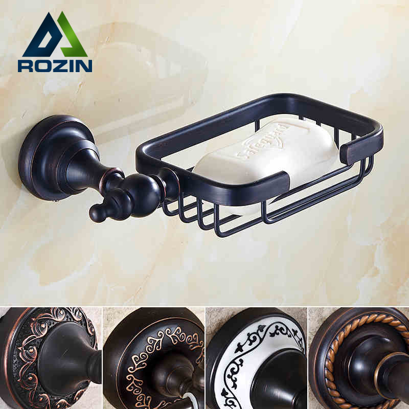 Oil Rubbed Bronze Bathroom Kitchen Soap Dish Wall Mount Brass Shower Soap Holder 5-styles beelee modern wall mount solod brass shower basket and storage caddy soap wire basket shower holder oil rubbed bronze finish