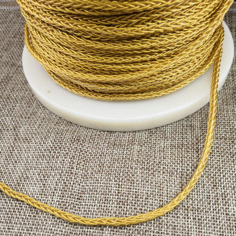 MLLSE 7N 152 Cores Hifi Earphone Cable Weaving DIY Audio Wire Pure Single Crystal Copper Gold