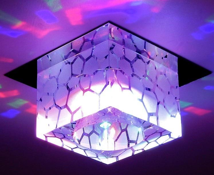 5W Modern Led Luster Crystal Ceiling Light Lamp Balcony For Home Living Room Bedroom Lighting New Square Abajur