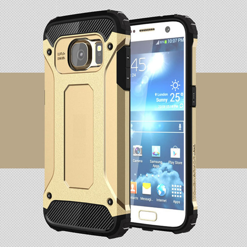 New MaiMoke For Samsung S6 Edge Case Armor Hard Plastic For Samsung Galaxy S6 S5 Case Luxury Combination Back Call Phone Cover
