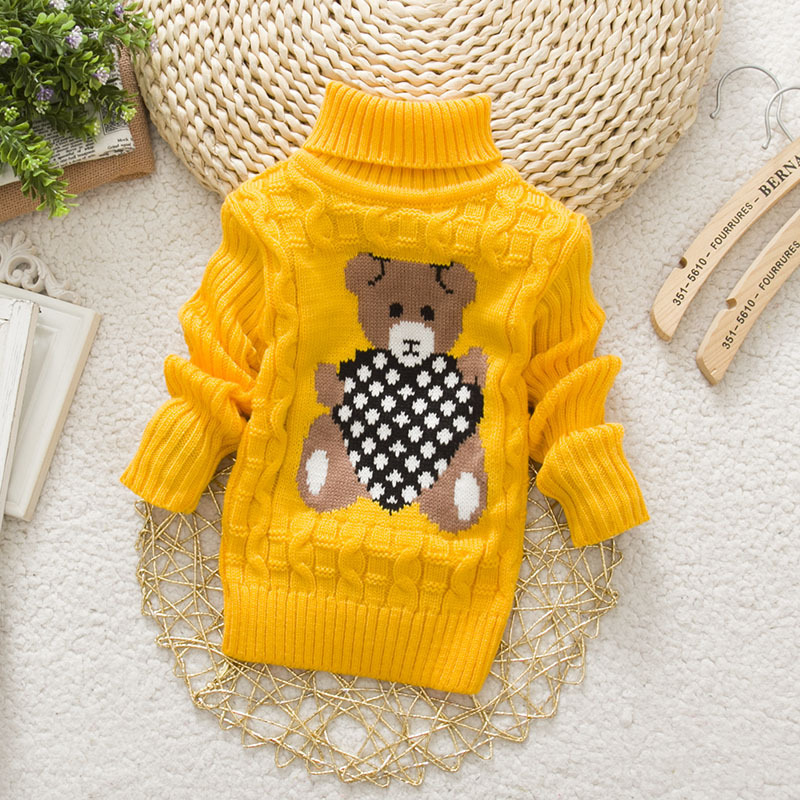 4740a5877 LCJMMO Baby Girls Sweaters Cartoon Children Sweaters autumn Winter ...
