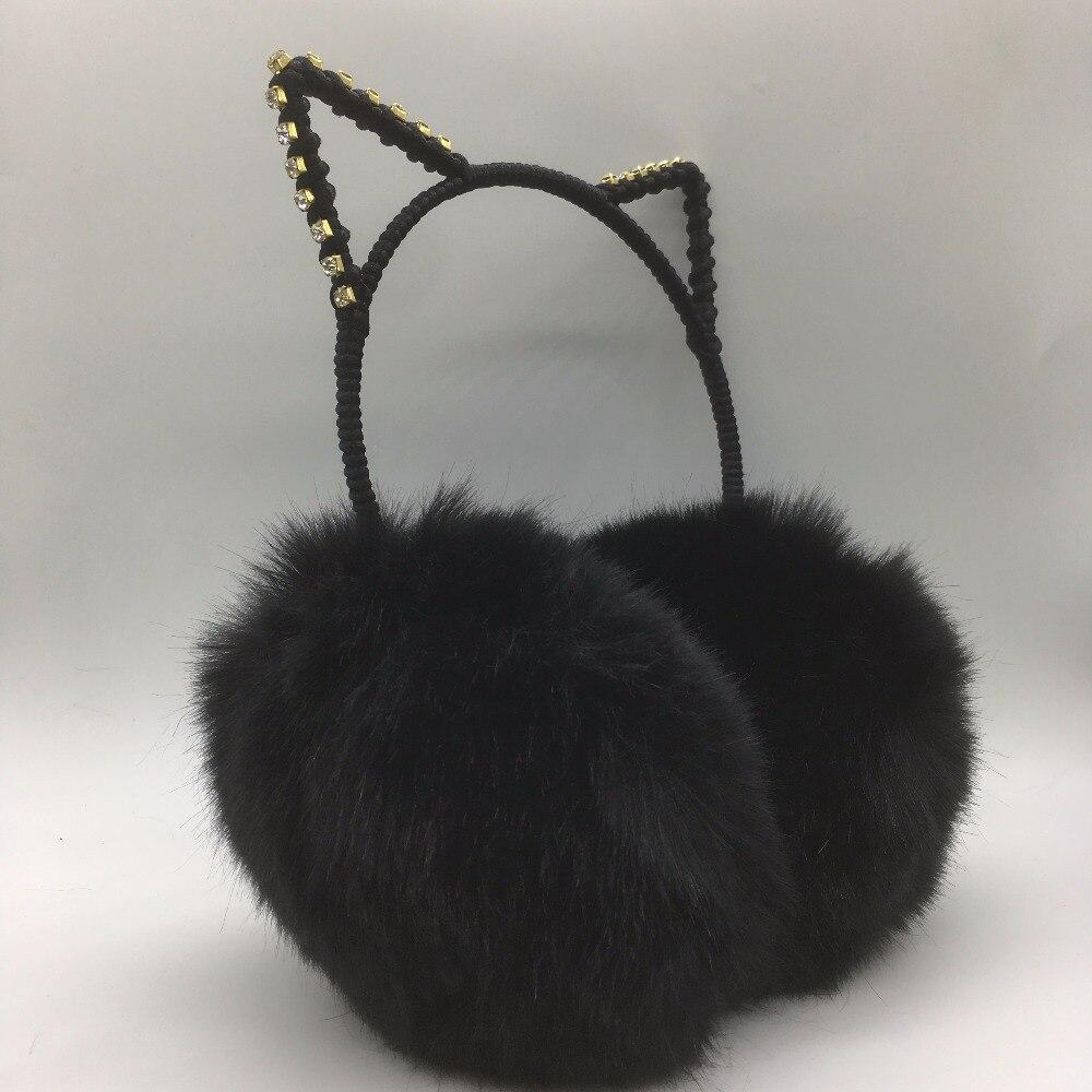 Winter Women's Fashion And Lovely Warm  Earmuffs Rabbit Ear Shape Ear Warmer