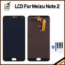 Aaa + qualité lcd affichage pour écran meizu meilan note 2 tactile digitizer assemblée remplacement pantalla pour meizu m 2 lcd + outil