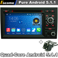 Pure Android 5.1 Car DVD Player For Audi S4 RS4 8E 8F B9 B7 RNS-E SEAT EXEO 2009 2010 2011 2012 AUDI A4 with WiFi Rear Camera