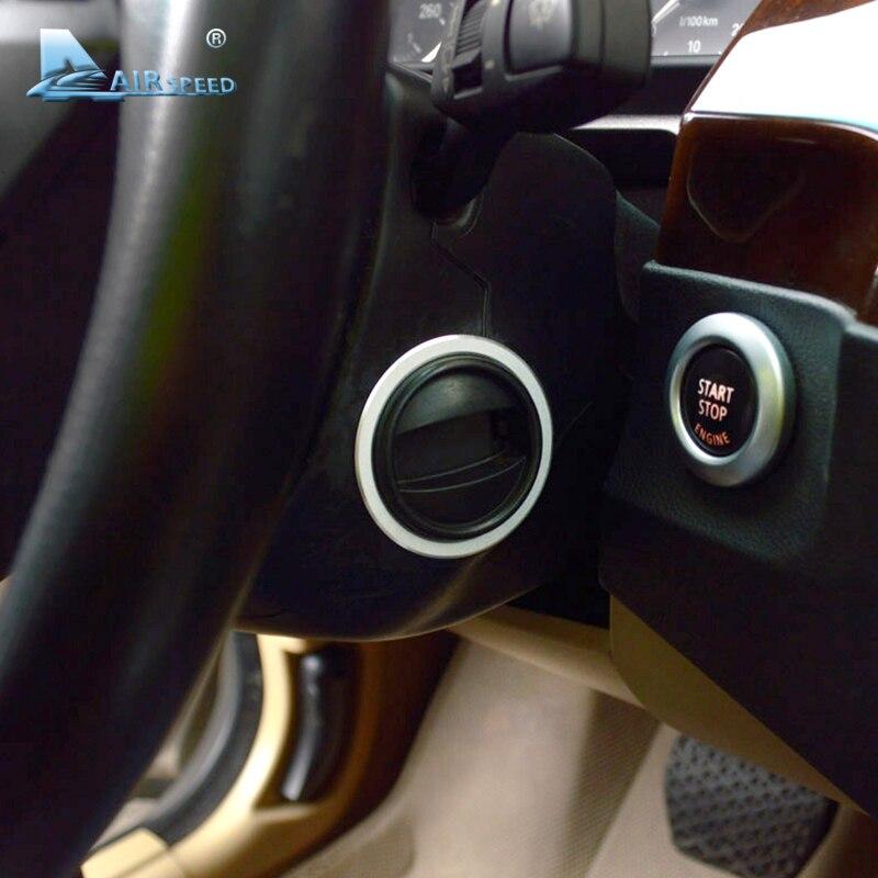 Vitesse pour BMW E60 2008-2010 Voiture D'allumage Keyhole Anneau Métallique Garniture Intérieur Décorations 5 Série Accessoires Car Styling
