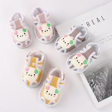 Baby Sandals Newborn Baby Girls Boys Cartoon Shoes Sandals First Walkers Soft Sole Shoes Sandalia Infantil Baby Summer Shoes(China)
