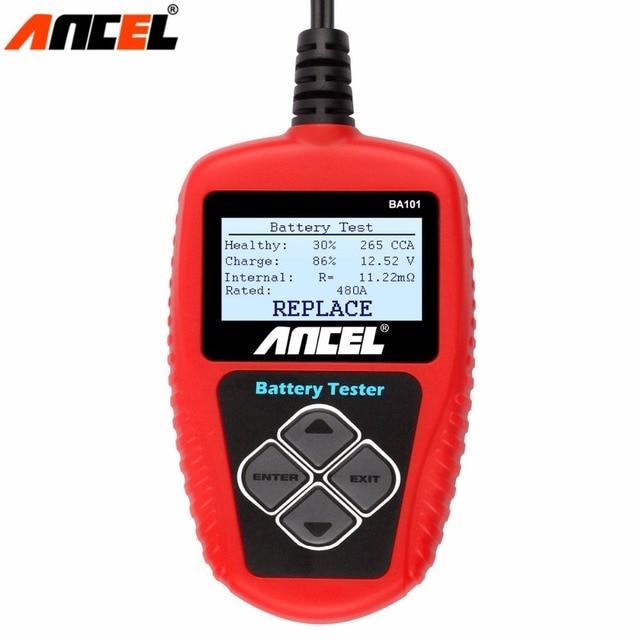 Ancel BA101 Batterie De Voiture Analyseur Au Démarrage en Charge Batterie Testeur 2000CCA 220Ah MAUVAIS Cellulaire Testeur Automotriz 12 v Batterie Analyseur