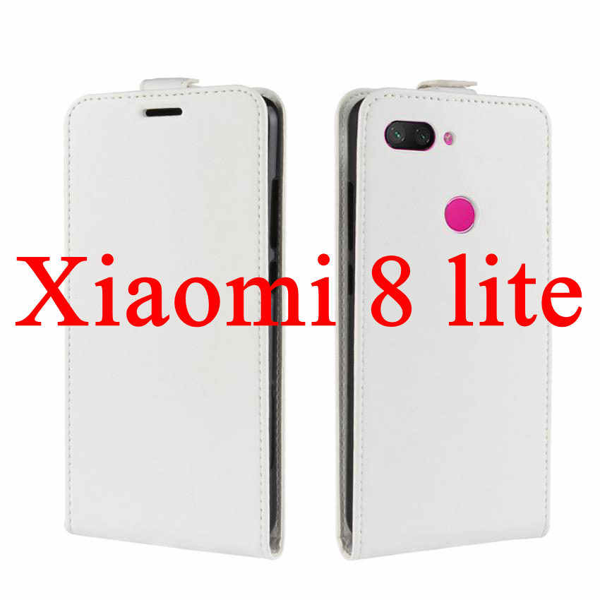 Mi 9 9 SE Case Coque PU Leather Flip Wallet Cover Case For Xiaomi mi 8 lite 8SE Screen Protector Protective Film Case