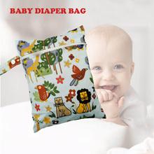 CYSINCOS 20*25cm Cartoon Printed Diaper Waterproof Dry Wet Bag Nappy Bags Cute Laundry Bag For Baby Reusable Cloth Diaper