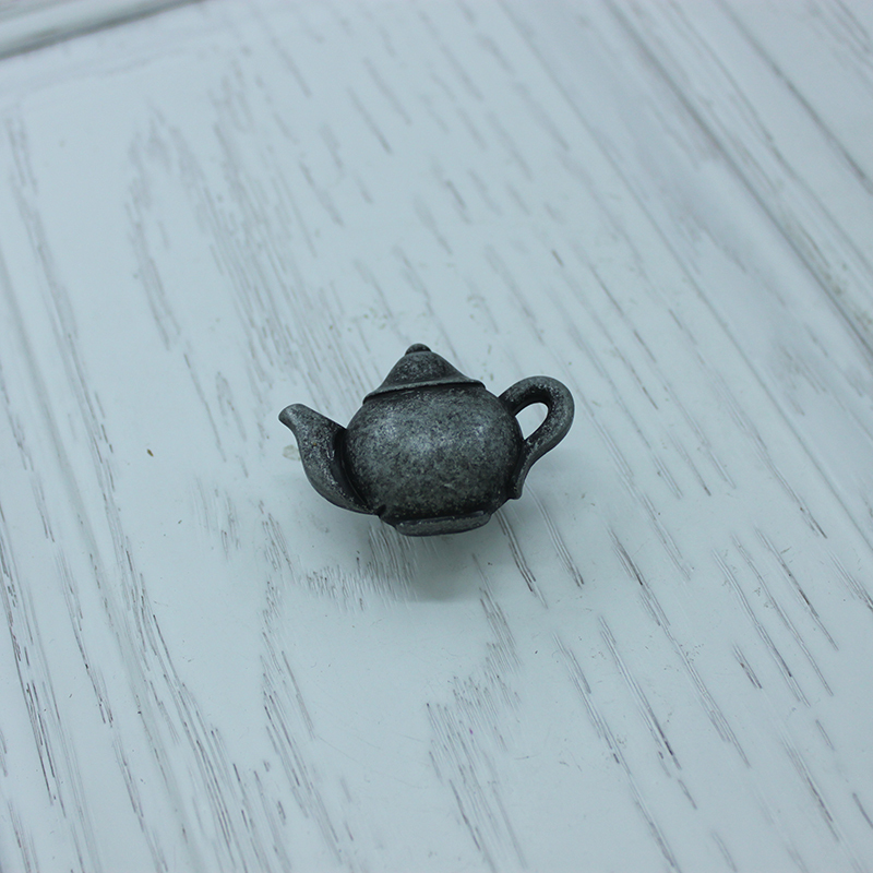 Super cute teapot shape bureau pulls antique silver zinc for Knobs for bureau