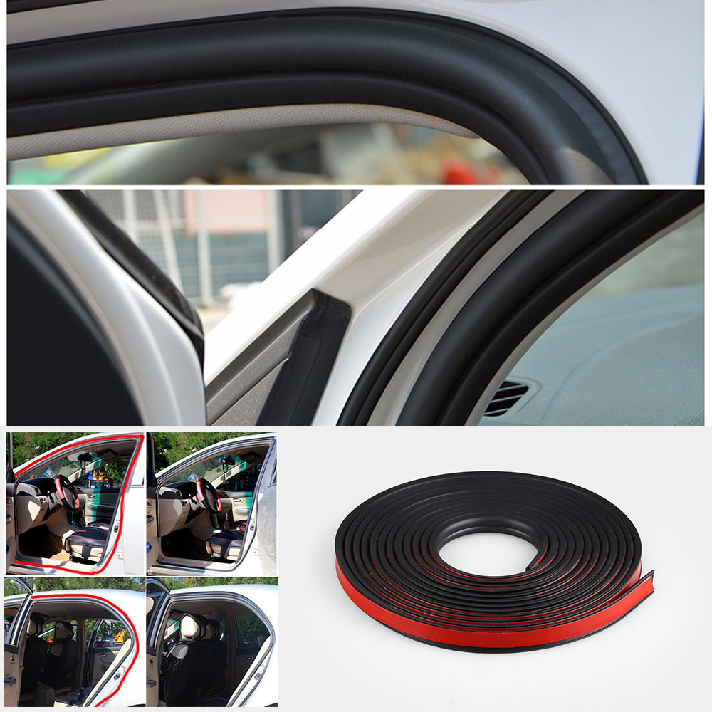 Image 2 - B shaped Door Seals Car Waterproof And Sound proof Strips B Type 2M 3M 4M Door Seals Car Rubber Seals Edge Trim-in Fillers, Adhesives & Sealants from Automobiles & Motorcycles