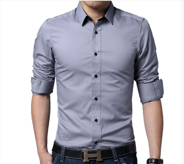 Spring Autumn Cotton Dress Shirts High Quality Mens Casual Shirt,Casual Men Plus Size M-3XL Slim Fit Social Shirts