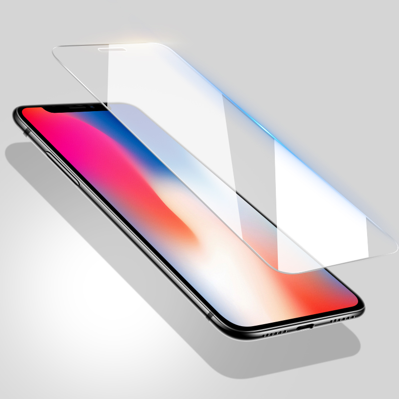 Image 2 - BLOSSOM 9H High quality Tempered Glass for iPhone X glass for iPhone X Protective Glass for iPhone X screen protector glass film-in Phone Screen Protectors from Cellphones & Telecommunications
