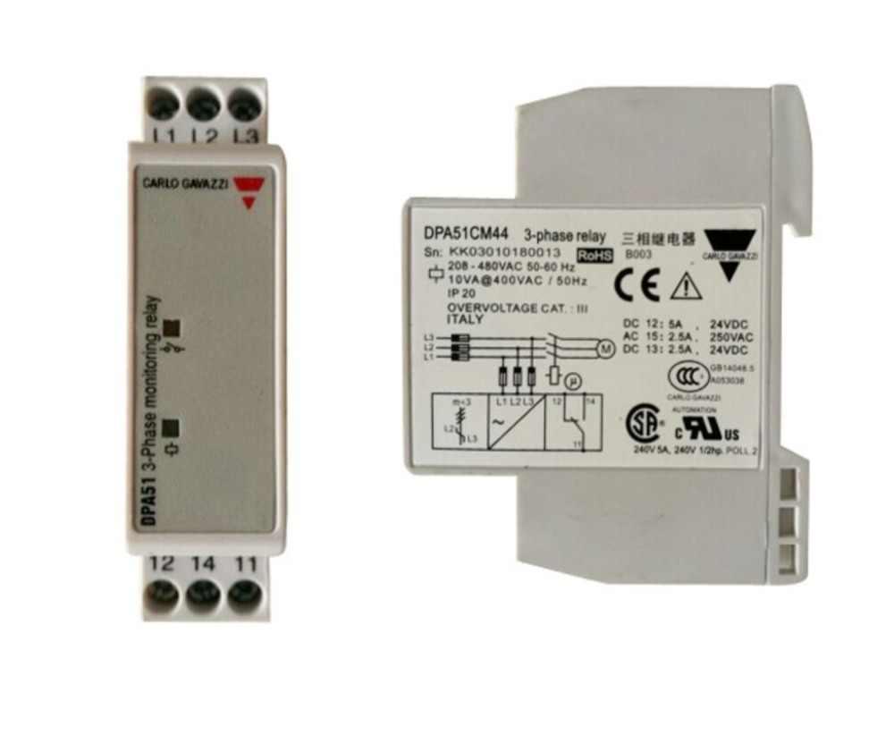 208-480 VAC Phasenabschnittschutz Relais Phasenabschnittschutz Dreiphasen-Relais DPA51CM44 3-Phasen-/Überwachungsrelais