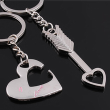 I Love You For Lovers Keychains A Couple Pendant Trinket car jewelry chaveiro innovative Item One Pair Key Chains set