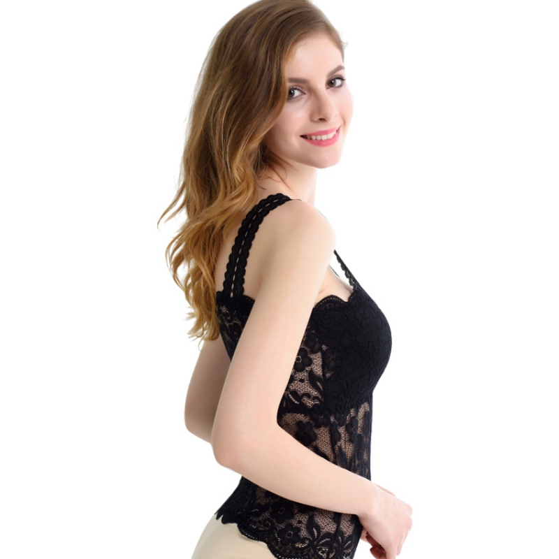 Image 4 - 2019 New Women Sexy Lace Bralette Bra Bustier Top Black Cropped Blusas Vest Tank Tops Camisole haut femme-in Tank Tops from Women's Clothing