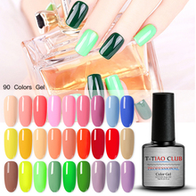 T-TIAO CLUB Gel Nail Polish 7ml Caramel Series UV 132 Colors Varnish Manicure Soak Off Art