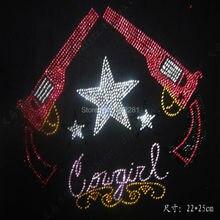 New crystal stone hot fix rhinestone transfer designs stra ss iron on motifs for t shirt DIY dance dress cloth