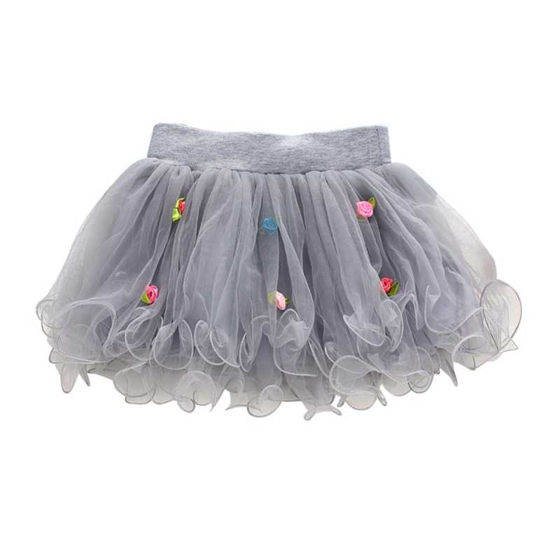 Hot Selling Baby Meisjes Tutu Rose Pluizige Rok Party Baljurk Effen Kleur Patroon Prinses Tulle Mini Rokken 1-4Y