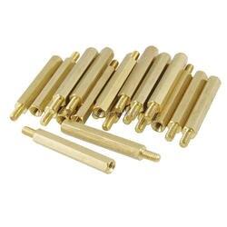 30mm ciała złoty Tone Plated mosiądz 3mm męski gwint wewnętrzny PCB Spacer wsparcie 20 sztuk w Zestawy nakrętek i śrub od Majsterkowanie na