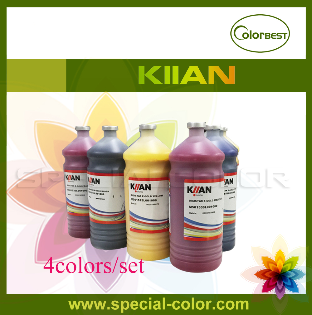 4colors/set Italy KIIAN Dye Sublimation Ink in Bottles Digital Transfer Printing Ink (E-Gold Series) for Epson DX5/DX7 400ml universal sublimation ink for epson printers heat transfer ink heat press sublimation ink