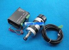ER11 48 В 400 Вт бесщеточный воздуха шпинделя двигатель + контроллер Двигателя гравировальный станок шпинделя комплект DIY