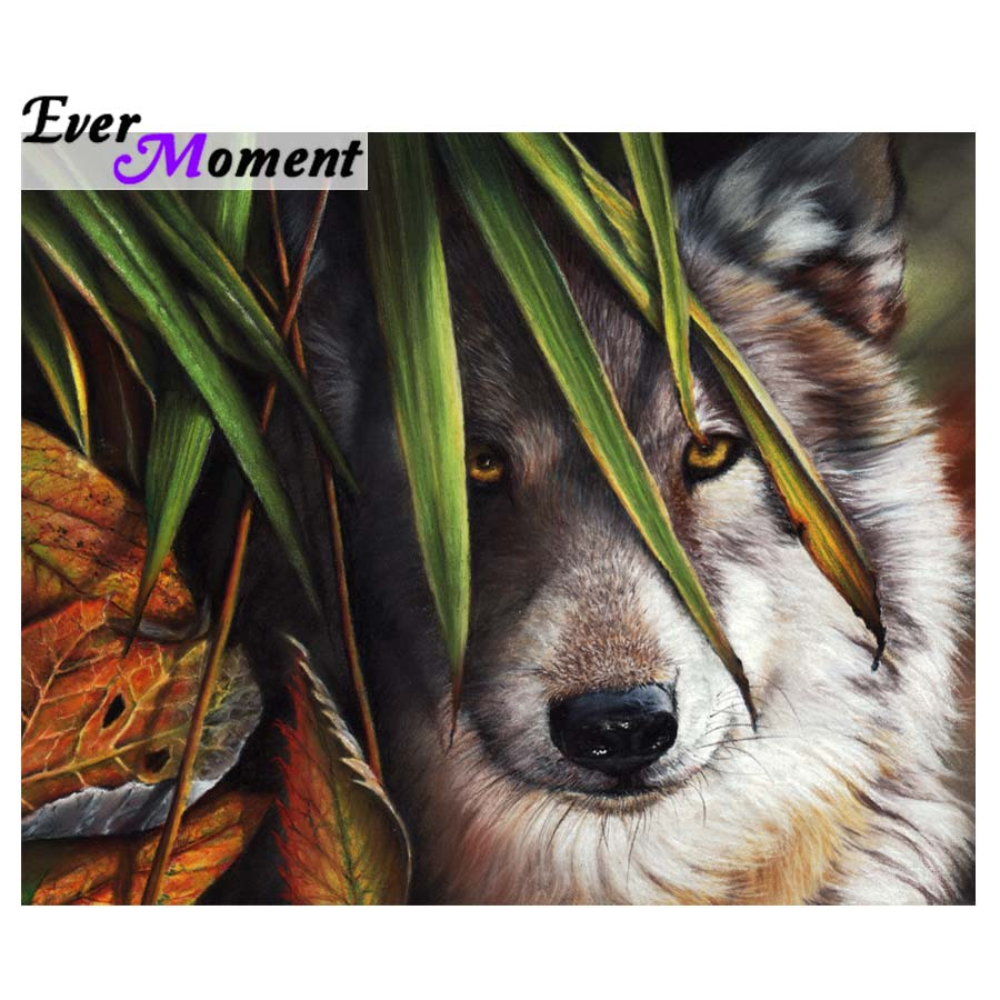 Ever Moment 5d Wolf Diamond Painting Cross Stitch Full Diamond Embroidery Square Stones Crystal Mosaic Embroidery Kits ASF668Ever Moment 5d Wolf Diamond Painting Cross Stitch Full Diamond Embroidery Square Stones Crystal Mosaic Embroidery Kits ASF668