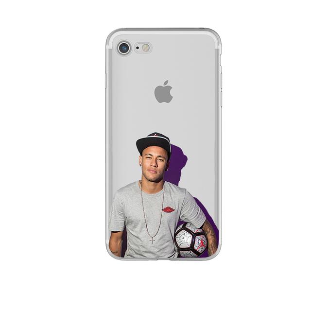 Phone Case Messi Neymar Suarez Jersey Football Star for iphone 7 6 5s 6s 6splus 5 se 7plus Ultra Slim Silicone Transparent Coque
