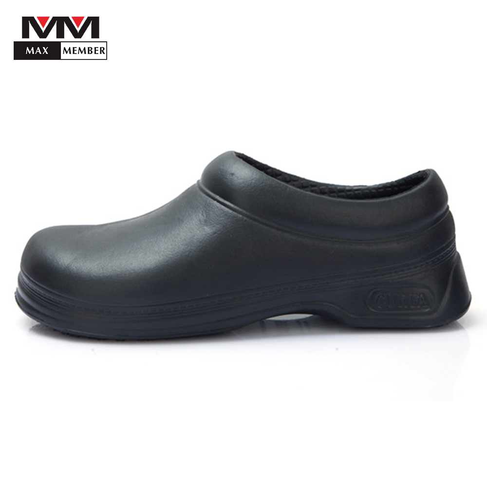 Black Men Women Catering Restaurant Kitchen Chef Cooking Work Shoes Hotel Cafe Bakery Waiter High Quality Non-slip Sandals Clogs