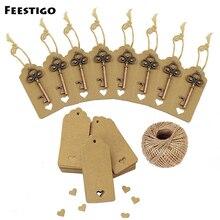 Feestigo 50pcs Wedding Party Favors For Guests Souvenirs Skeleton Crown Bottle Opener Paper Gift Tags Festive Supplies
