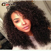Gossp Full Lace Wigs Human Hair With Baby Hair Mongolian Kinky Curly Hair Wig For Black Women Pre Plucked Glueless Full Lace Wig