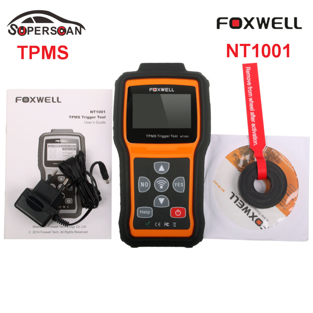 Foxwell NT1001 TPMS Trigger & Diagnostic Tool TPMS Sensor Decoder and Displays the Data or any faults of TPMS Free Shipping