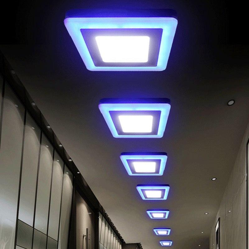 1 Stück Ac85-265v Platz Runde Led-panel Licht Aufbau Led-deckeneinbauleuchte Einbau Lampe + Led-treiber 3 + 2 Watt/18 + 6 Watt