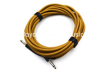 20ft Electric Guitar Cable Amp Lead Cord Amplifier Cable Audio Connection Cable Low Noise Shielded Yellow