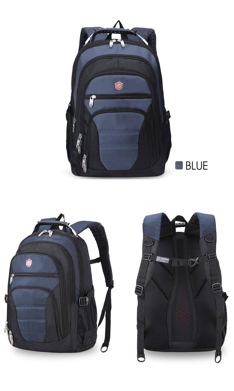 Aoking Original Brand New Patent Design Massage Air Cushion1 Men's Laptop Backpack Men Large Capacity Nylon Comfort Backpacks 17