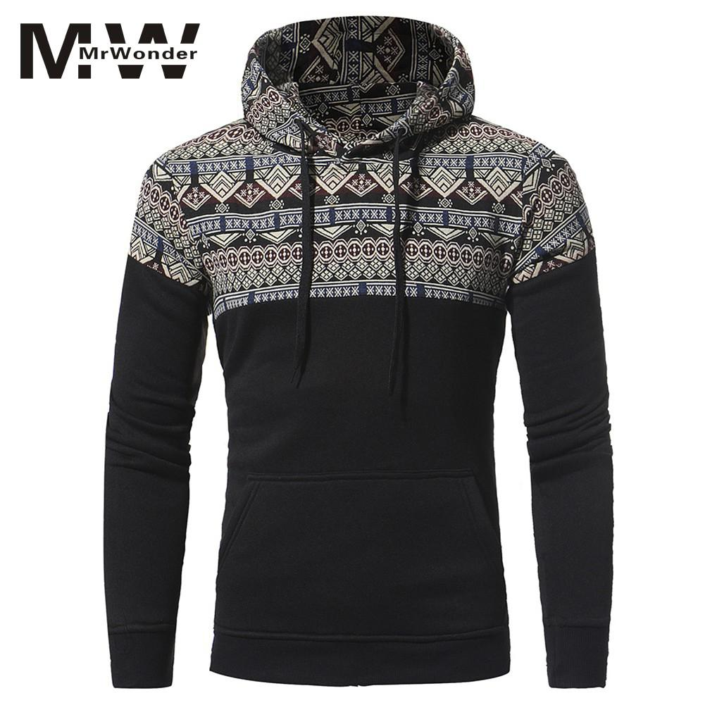 Hoodies Men 2018Brand Male Long Sleeve Print Hooded Sweatshirt Mens Hoodie Tracksuit Sweat Coat Casual Sportswear SAN0
