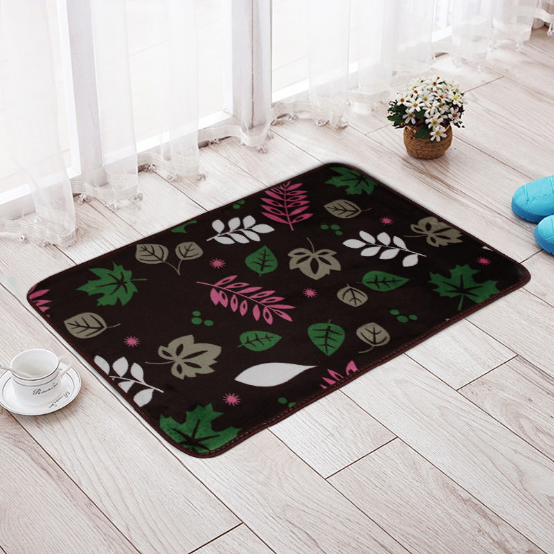 Pastoral Flower Printed Bathroom Mats Rugs Carpets Non Slip Mats for Living room Bedroom Stairs Floor Baby Crawled Mat Bath Rugs