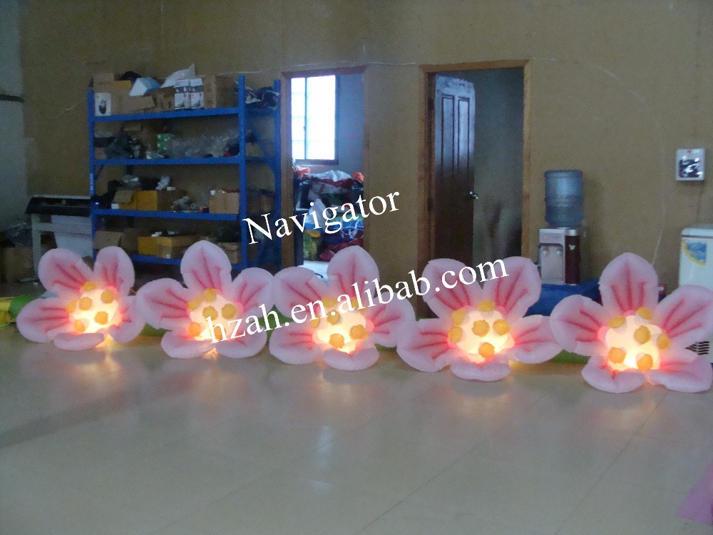 Artificial Self Inflatable Flower with LED Light carnation artificial flower with pot